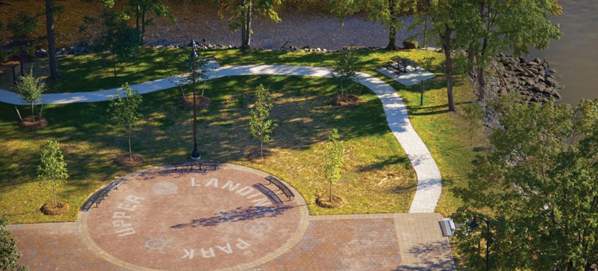 Upper Landing Park sign system design by Drake Creative
