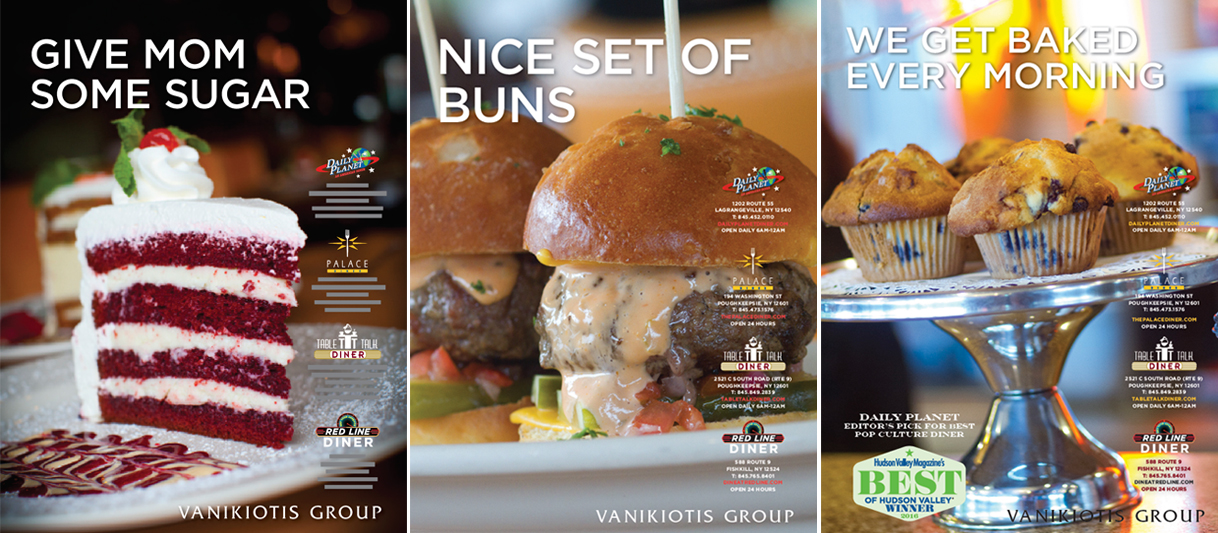 Vanikiotis Group identity system and advertising campaign by Drake Creative