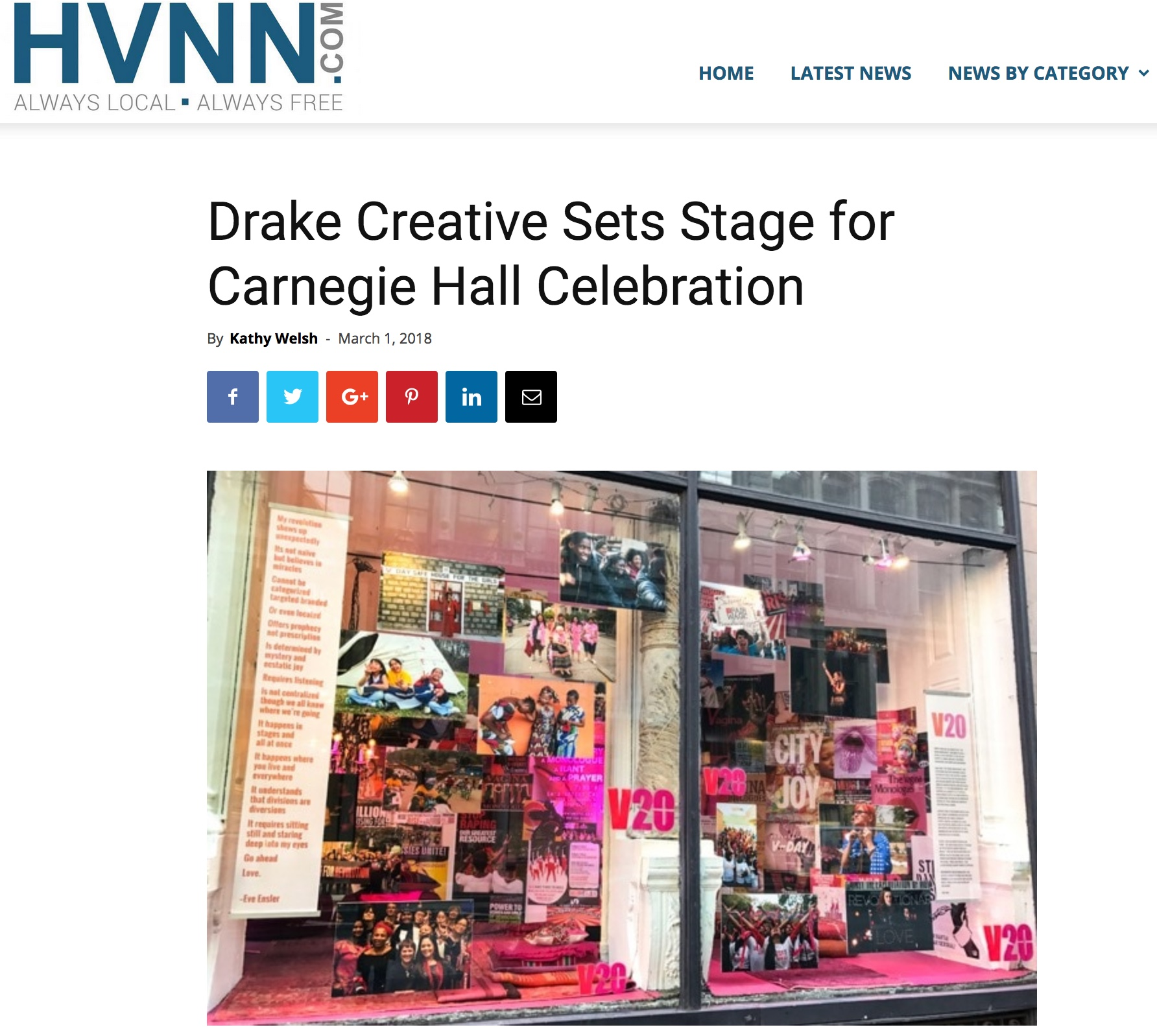 Drake sets stage for VDAY Carnegie Hall gala