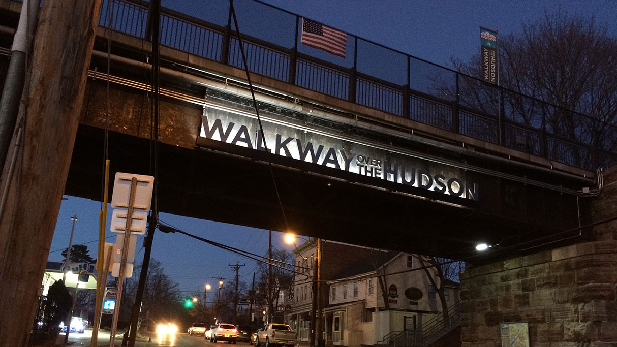 Walkway Over the Hudson signage design by Drake Creative