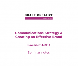 Drake Creative Nov 14 Seminar Summary Download